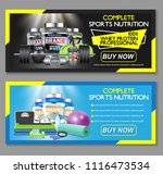 complete sports nutrition... | Shutterstock .eps vector #1116473534