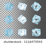 ice cube icon set. vector... | Shutterstock .eps vector #1116473543