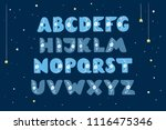 cute floral alphabet for kids | Shutterstock .eps vector #1116475346