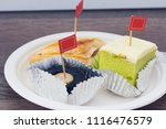 sweet pastry cake with puff | Shutterstock . vector #1116476579