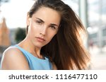 beauty smiling happy model with ... | Shutterstock . vector #1116477110