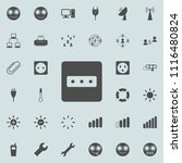 electric outlet icon. detailed... | Shutterstock .eps vector #1116480824