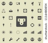 electric outlet icon. detailed... | Shutterstock .eps vector #1116480854