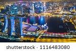 Aerial View Singapore City...