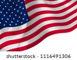 american flag silk background | Shutterstock .eps vector #1116491306