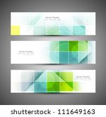 abstract mosaic header colorful ... | Shutterstock .eps vector #111649163