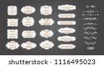 vintage vector set. floral... | Shutterstock .eps vector #1116495023
