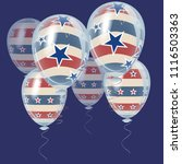 american independence day... | Shutterstock .eps vector #1116503363