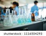 chemical laboratory glassware... | Shutterstock . vector #1116504293