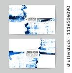 set of vector business card... | Shutterstock .eps vector #1116506090