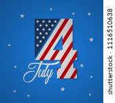 happy usa independence day 4 th ... | Shutterstock .eps vector #1116510638