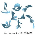 hand  foot and clean water ... | Shutterstock .eps vector #111651470