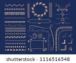 vector set of calligraphic... | Shutterstock .eps vector #1116516548