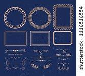 vector set of calligraphic... | Shutterstock .eps vector #1116516554