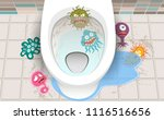 germs in dirty toilets | Shutterstock .eps vector #1116516656