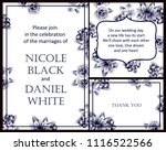 invitation with floral... | Shutterstock . vector #1116522566