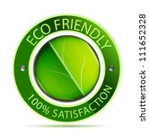 green eco friendly icon with... | Shutterstock . vector #111652328