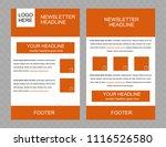 newsletter vector layout...   Shutterstock .eps vector #1116526580