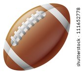 An illustration of a traditional American football ball - stock photo