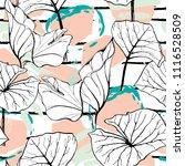 tropical  modern stripes motif. ...   Shutterstock .eps vector #1116528509