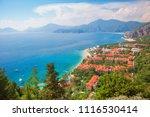 turkish coast  kidrak beach and ... | Shutterstock . vector #1116530414