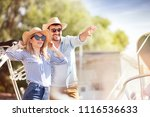 beautiful young couple with... | Shutterstock . vector #1116536633