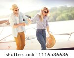 young man helping his... | Shutterstock . vector #1116536636