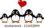 penguin family love | Shutterstock .eps vector #111653894
