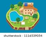 vector home isometric flat... | Shutterstock .eps vector #1116539054