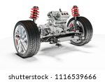 3d car chassis with motor and... | Shutterstock . vector #1116539666