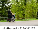 unidentified disabled person in ...   Shutterstock . vector #1116543119