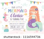 kids birthday party invitation... | Shutterstock .eps vector #1116544736
