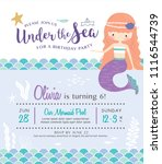 kids birthday party invitation... | Shutterstock .eps vector #1116544739