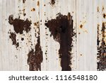corroded white metal background.... | Shutterstock . vector #1116548180