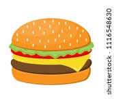hamburger cheese with beef ... | Shutterstock .eps vector #1116548630