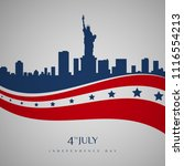 happy usa independence day 4 th ... | Shutterstock .eps vector #1116554213