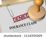 3d illustration of denied stamp ... | Shutterstock . vector #1116554309