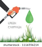 green campaign concept. fuel... | Shutterstock .eps vector #1116556214