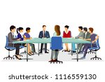 discussion in the meeting | Shutterstock .eps vector #1116559130
