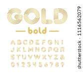golden font. vector alphabet... | Shutterstock .eps vector #1116562079