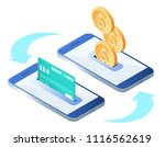 the money transfer process.... | Shutterstock .eps vector #1116562619