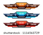 sport scoreboard with time and... | Shutterstock .eps vector #1116563729