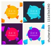 summer sale cover set with... | Shutterstock .eps vector #1116566540