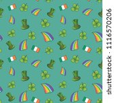 st patrick's day hand drawn... | Shutterstock . vector #1116570206