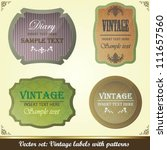 collection of vintage labels... | Shutterstock .eps vector #111657560