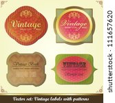 collection of colorful vintage... | Shutterstock .eps vector #111657620