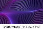abstract 3d rendering of smooth ... | Shutterstock . vector #1116576440