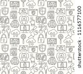line style seamless internet... | Shutterstock . vector #1116577100