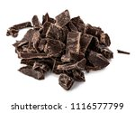 pieces of black chocolate... | Shutterstock . vector #1116577799