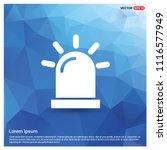 siren icon   vector icon | Shutterstock .eps vector #1116577949